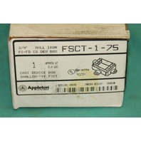 Appleton FSCT-1-75 Cast shallow device box iron FS-FD