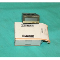 Crouzet Syrelec 87610140 Hour Counter 8 Digit Display 2213 digital NEW