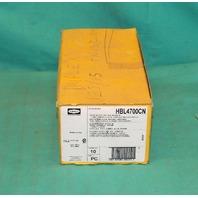 Hubbell HBL4700CN Twist-Lock Duplex Receptacle 15A 125V 2Pole NEW