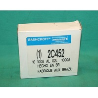 Ashcroft 2C452 Pressure Gauge Liquid Filled 1000psi 10 1008 AL 02L Gage NEW
