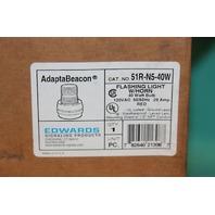 Edwards Adapta Beacon 51R-N5-40W Signal Light w/Horn Beacon 120VAC red Lamp NEW