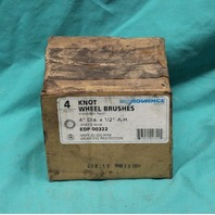 """Advance Knot Wire Wheel Brushes EDP 00322 4"""" Dia 1/2"""" A.H. .014CS Wire 4/Box NEW"""