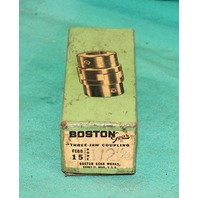 "Boston Gear FCBB15 Three-Jaw Coupling 1/2"" Bore FCP-FCBB-15 .5"" Brass Spider"