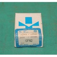 Shawmut Gould GFN2 Time Delay Miniature Fuse IR10KA 125v 200A 250v 2a 10pcs NEW