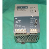 Sola SDN10-24-480 Power Supply 24vdc 10a 480v NEW